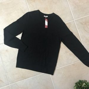 Merona charcoal gray v-neck sweater small #238